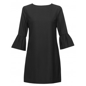 Vestido negro con manga farol Anonyme Designers