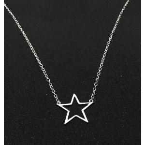 Collar mujer estrella en plata de ley