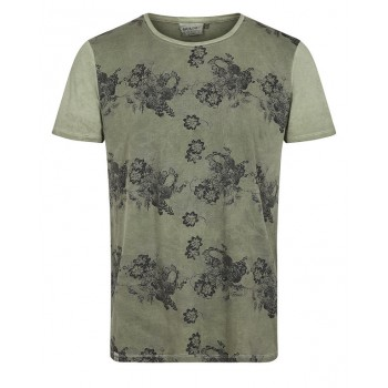 Camiseta hombre Anerkjendt flores kaki