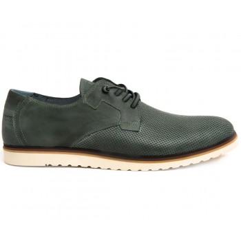 Zapatos elegantes hombre Cetti en piel troquelada color verde kaki