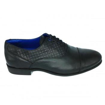 Zapatos elegantes hombre Cetti en piel grabada color negro