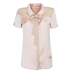 Blusa sedosa con lazo y apertura en la espalda Yes Zee