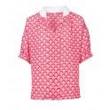 Blusa rosa con cuello blanco Anonyme Designers