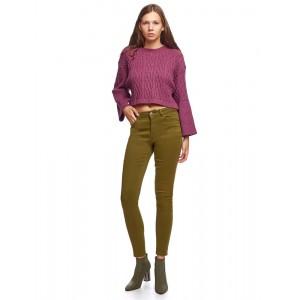 Pantalones mujer Van Dos slim fit verde