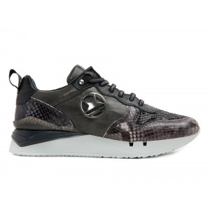 Sneaker Cetti mujer C1198 snake negro gris