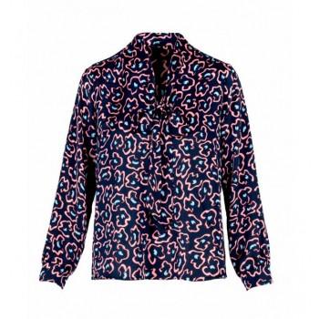 Blusa sedosa estampada Anonyme Designers