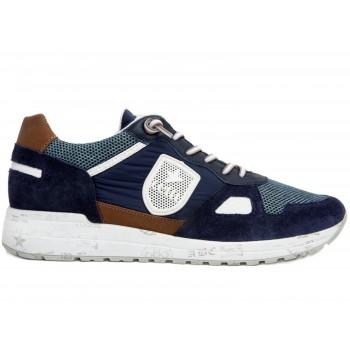 Zapatillas C1216 en ante azul Cetti