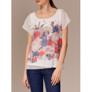 Blusa estampada con flores y lurex LolitasyL