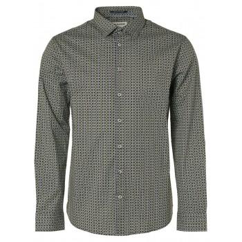 Camisa No Excess micro estampado geometrico