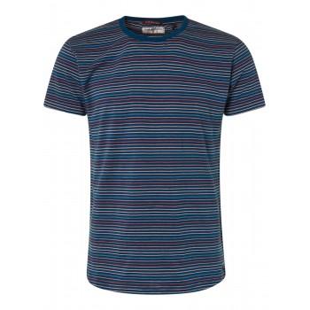 Tshirt con rayas rojo y azul No Excess