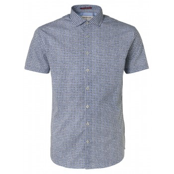 Camisa mangas cortas azul No Excess