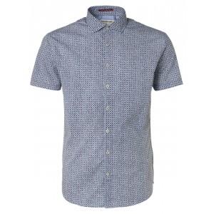 Camisa No Excess estampado geometrico azul