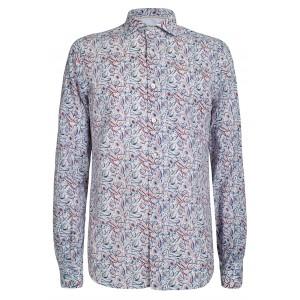 Camisa de lino con flores Yes Zee