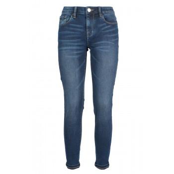 Jeans skinny lavado tiro medio Yes Zee
