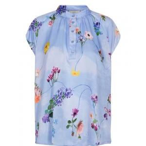 Blusa sedosa Nucuba con estampado de flores Nümph