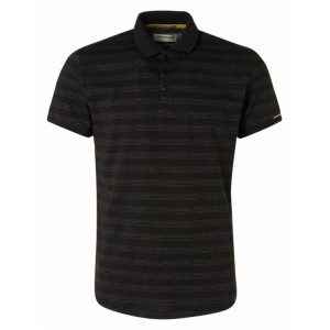 Polo negro de rayas No Excess