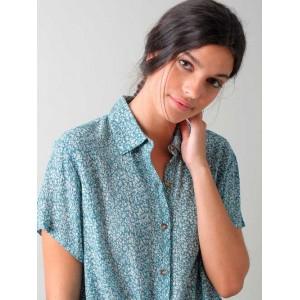 Camisa Daisy con estampado de flores Indi & Cold