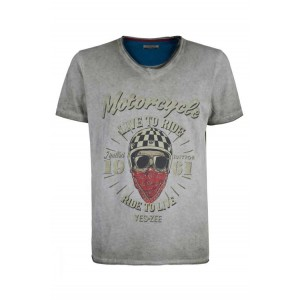 Camiseta calavera motera Yes Zee