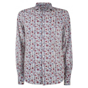 Camisa con rayas y flores Yes Zee