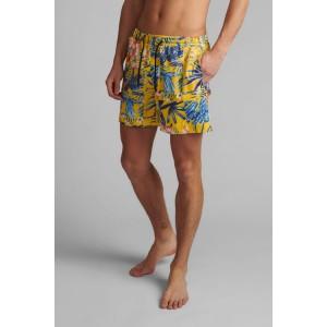 Bañador boxer hombre tropical amarillo Anerkjendt