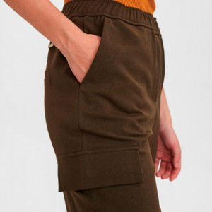 Pantalones cargo con cintura engomada Nümph